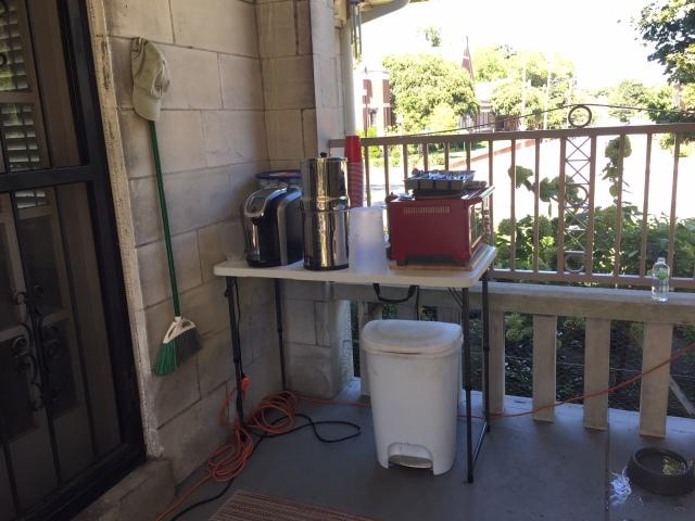 Downsized temp kitchen